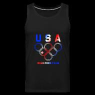 Sportswear ~ Men's Premium Tank ~ USA Beer Pong Team Tanktop