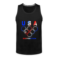 Sportswear ~ Men's Premium Tank ~ USA Beer Pong Team Tanktop