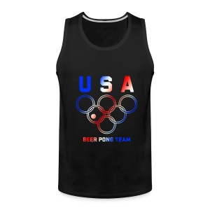 USA Beer Pong Team Tanktop - Men's Premium Tank