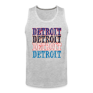 Tank Tops ~ Men's Premium Tank Top ~ Detroit Colors