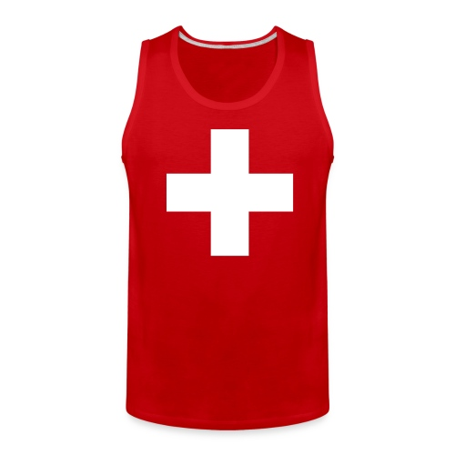 Swiss Cross T-Shirts - Men's Premium Tank