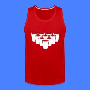 Beer Pong Cups - stayflyclothing.com T-Shirts - Men's Premium Tank