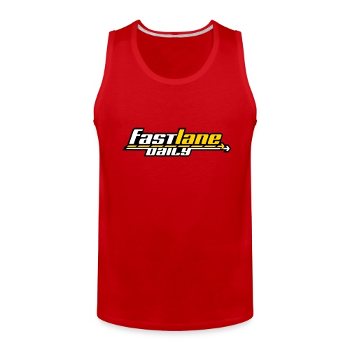 Fast Lane Daily logo on Men's Tank Top - Men's Premium Tank