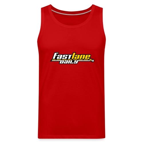 Fast Lane Daily logo on Men's Tank Top - Men's Premium Tank