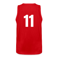 Tank Tops ~ Men's Premium Tank Top ~ Indiana 11 Red and White (Number On Back Also)