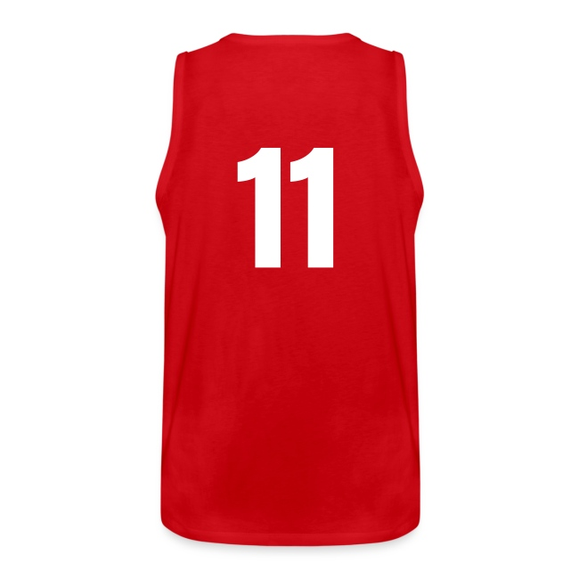 Indiana 11 Red and White (Number On Back Also)