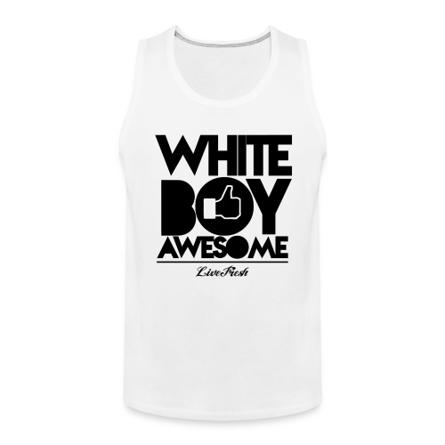 White Boy Awesome Tank - Men's Premium Tank