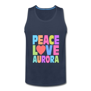 Peace Love Aurora - Men's Premium Tank