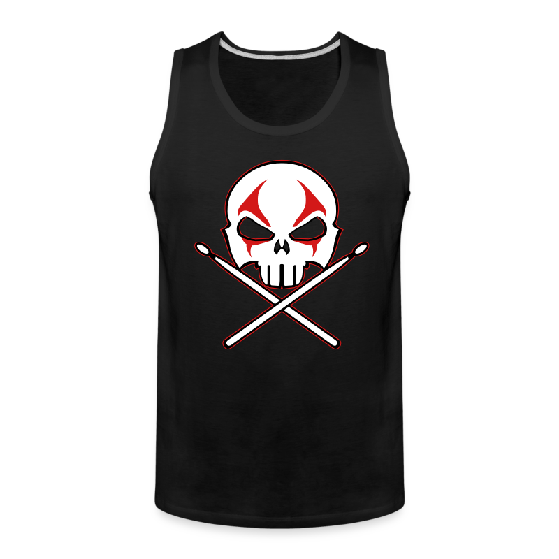 Rock and Roll Drummer Shirt Death Metal Drummer - Men's Premium Tank