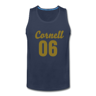Tank Tops ~ Men's Premium Tank Top ~ Cornell 06 Black and Gold (Number On Back Also)