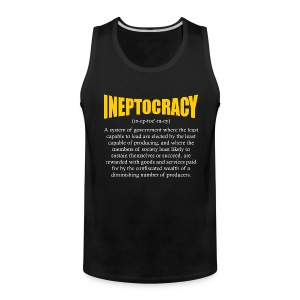 Ineptocracy Definition - Men's Premium Tank