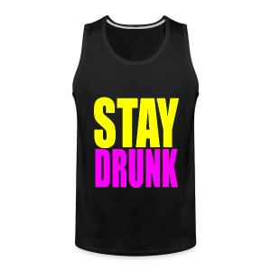 Stay Drunk Tank Top Sleeveless Shirt - Men's Premium Tank