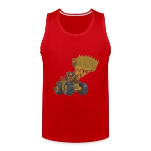 Old Mining Wheel Loader - Yellow - Men's Premium Tank