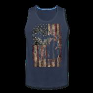 Tank Tops ~ Men's Premium Tank Top ~ Michigan - USA Flag
