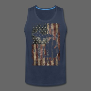 Michigan - USA Flag - Men's Premium Tank
