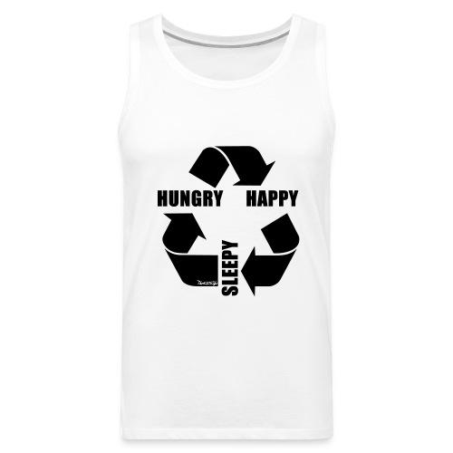 Hungry, Happy, Sleepy Cycle TankTop - Men's Premium Tank