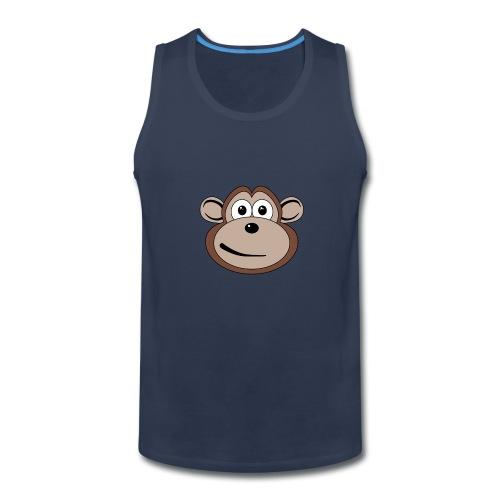 Cartoon Monkey Face - Men's Premium Tank