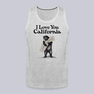 I Love You CA - Men's Premium Tank