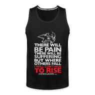 Tank Tops ~ Men's Premium Tank Top ~ There will be pain | CutAndJacked | Mens tank