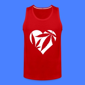Marijuana Heart Tank Tops - Men's Premium Tank