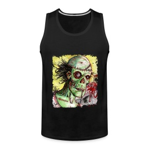 mens zombie patient - Men's Premium Tank