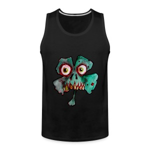 mens zombie shamrock - Men's Premium Tank