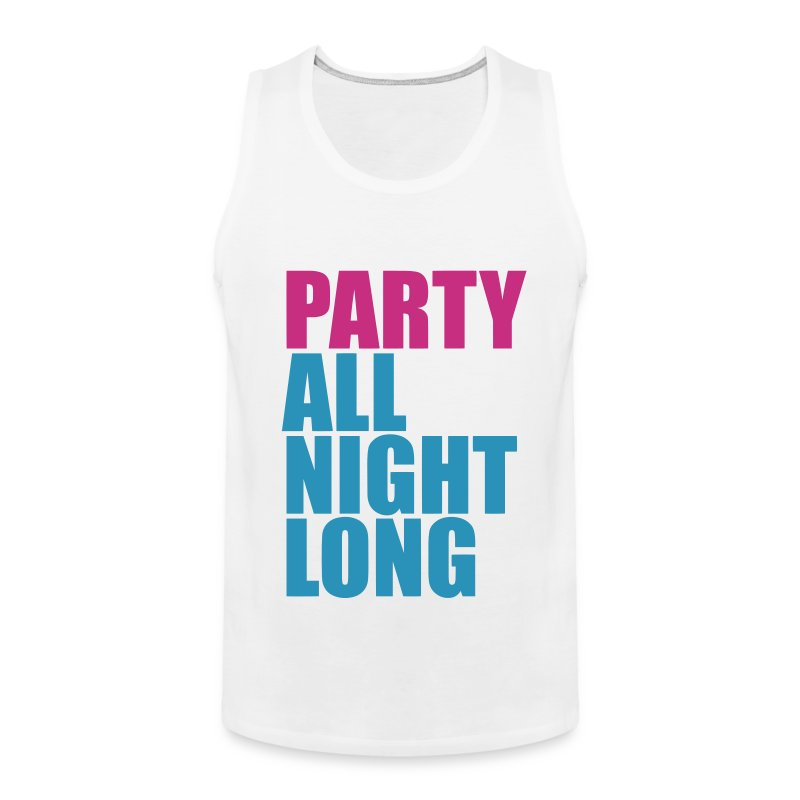 Party All Night Long *Magenta/Light Blue* Men's - Men's Premium Tank