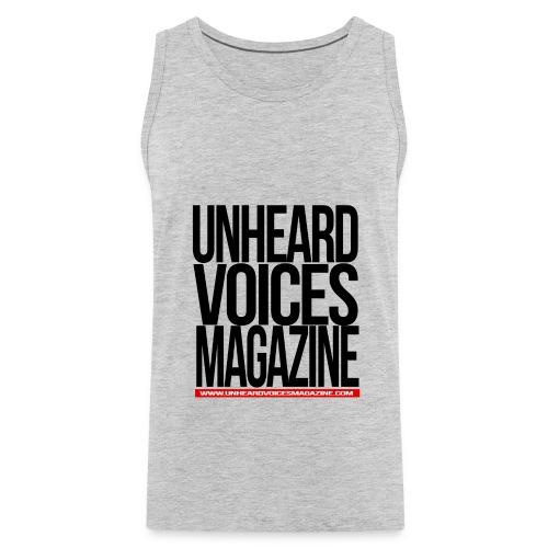 Unheard Voices Magazine Tank Top (Grey) Men - Men's Premium Tank