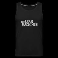 Sportswear ~ Men's Premium Tank ~ The Lean Machines Tank Top Mens - Black