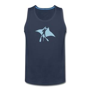animal t-shirt manta ray scuba diver diving dive fish sting ray - Men's Premium Tank