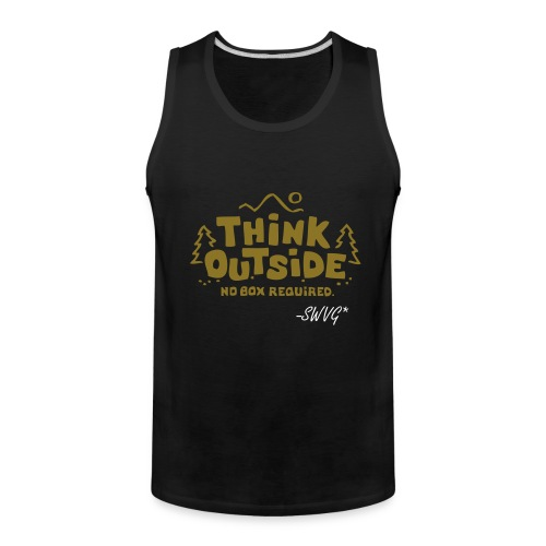 Mens Thinker Tank- Black - Men's Premium Tank