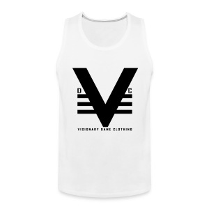 White/Black Visionary Dame Original Tank - Men's Premium Tank