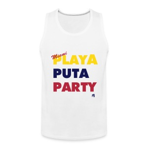 Mens Tank Miami Motto (Colombian Venezuelan edition) - Men's Premium Tank