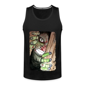 mens zombie breaking in - Men's Premium Tank