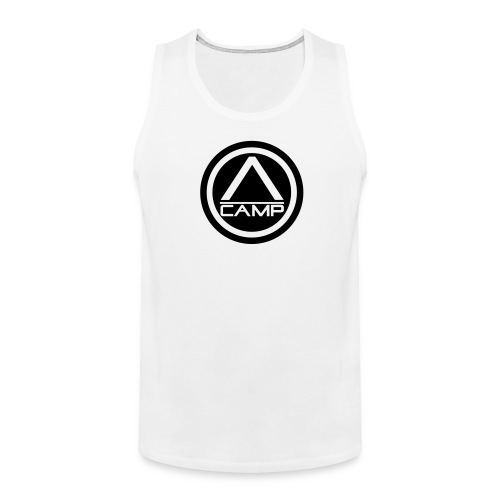 White CAMP Tank - Men's Premium Tank