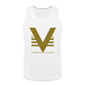 White/Shiny Visionary Dame Original Tank - Men's Premium Tank