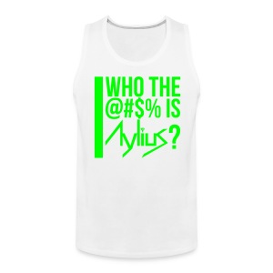 Men's Tank (White/Neon Green) - Men's Premium Tank