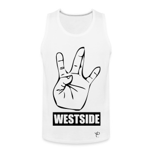 White/Black Westside Tank - Men's Premium Tank