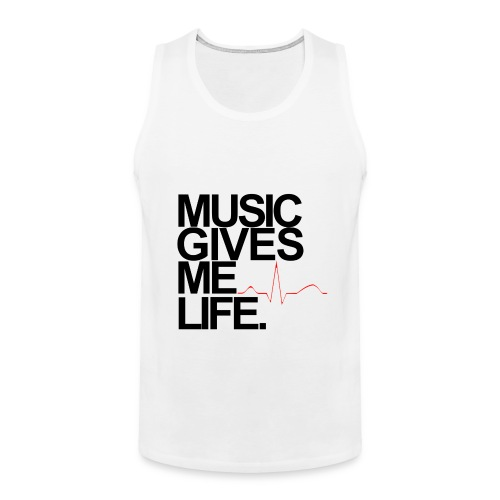 Music Gives Me Life, Chenelle Designs Signature Tee - Men's Premium Tank