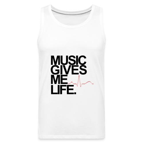 Music Gives Me Life, Chenelle Designs Signature Tee - Men's Premium Tank
