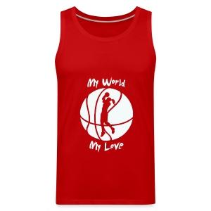 Basketball is my Love  - Men's Premium Tank