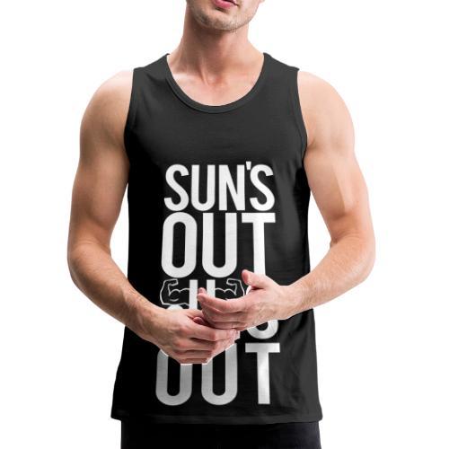 Suns out guns out   Mens tank - Men's Premium Tank