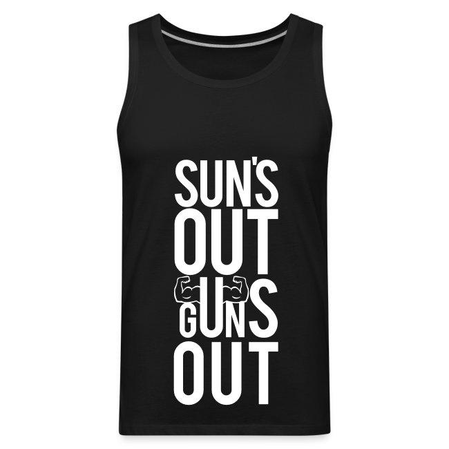 Suns out guns out   Mens tank