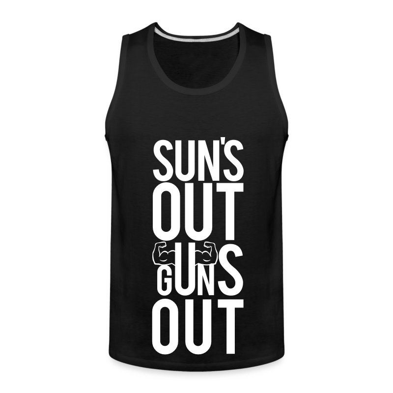 Suns out guns out | Mens tank - Men's Premium Tank