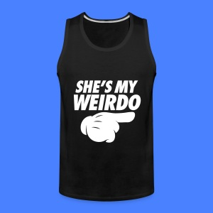 She's My Weirdo (Pointing Right) Tank Tops - Men's Premium Tank