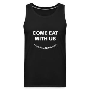 Men's Black Come Eat with Us Tank Top - Men's Premium Tank
