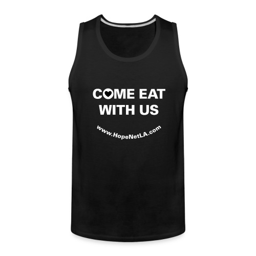 Men's Black Come Eat with Us Tank Top - Men's Premium Tank