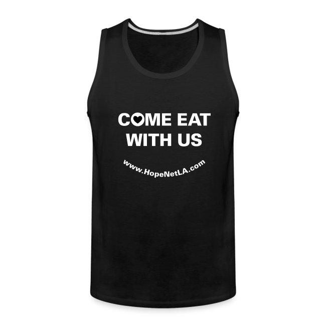 """Men's Black """"Come Eat with Us"""" Tank Top"""