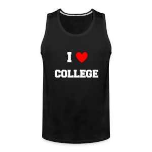 I Love College Party Tank Top - Men's Premium Tank