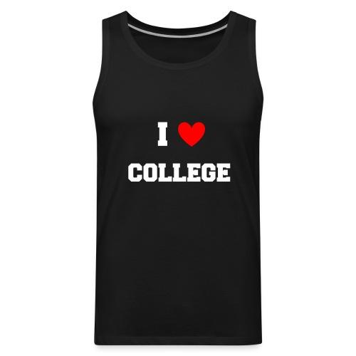 I Love College Party Tank Top - Men's Premium Tank